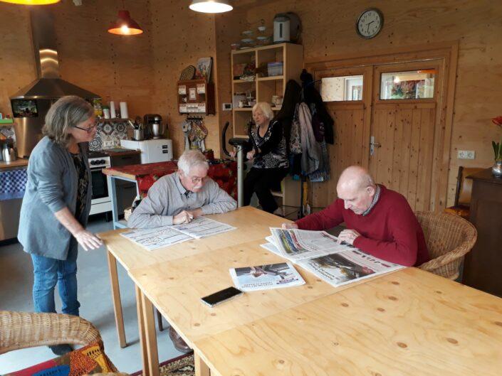 Vrijwilligers gastouderopvang kinderen opvang ouderen theetuin koewacht terras zorg